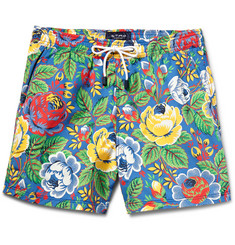 Etro - Floral-Print Mid-Length Swim Shorts