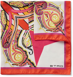 Etro Printed Silk-Twill Pocket Square