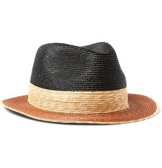 Etro - Colour-Block Straw Panama Hat