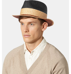 Etro Colour-Block Straw Panama Hat