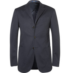 Polo Ralph Lauren Navy Slim-Fit Cotton Blazer