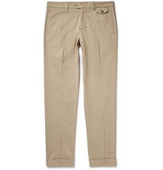 Michael Bastian Slim-Fit Stretch-Cotton Gabardine Trousers