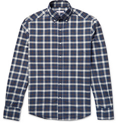 Michael Bastian Slim-Fit Button-Down Collar Checked Washed-Cotton Shirt