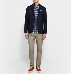 Michael Bastian - Slim-Fit Button-Down Collar Checked Washed-Cotton Shirt