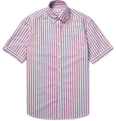 Michael Bastian - Slim-Fit Striped Cotton Oxford Shirt