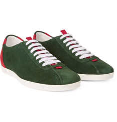 Gucci - Two-Tone Panelled Suede Sneakers