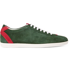 Gucci Two-Tone Panelled Suede Sneakers