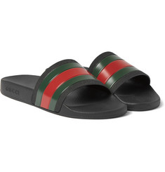 Gucci - Striped Rubber Slides