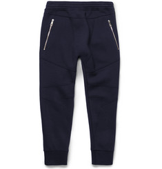 Neil Barrett Motorcycle Tapered Bonded-Jersey Sweatpants