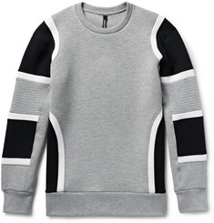 Neil Barrett Colour-Block Scuba-Jersey Sweatshirt