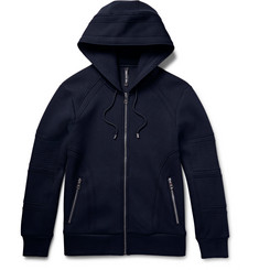 Neil Barrett Motorcycle Zip-Up Jersey Hoodie