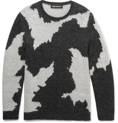 Neil Barrett Slim-Fit Patterned Knitted Sweater