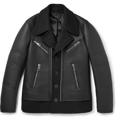 Neil Barrett Leather and Wool-Blend Jacket