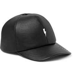 Neil Barrett Leather Baseball Cap