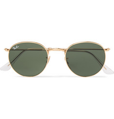 Ray-Ban Arista Round-Frame Metal Sunglasses
