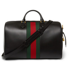 Gucci - Canvas-Trimmed Leather Holdall