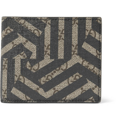 Gucci Geometric-Print Textured-Leather Billfold Wallet