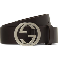 Gucci 3.5cm Dark-Brown Leather Belt