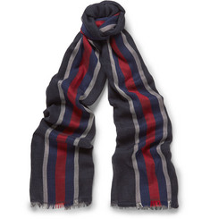 Gucci - Striped Cotton and Silk-Blend Scarf