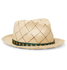 Gucci - Grosgrain-Trimmed Straw Hat