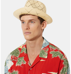 Gucci Grosgrain-Trimmed Straw Hat
