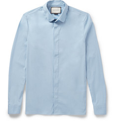 Gucci - Slim-Fit Penny-Collar Cotton-Blend Poplin Shirt