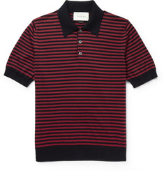 Gucci - Slim-Fit Striped Cotton and Cashmere-Blend Polo Shirt