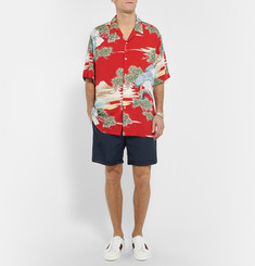 Gucci Silk Faille-Trimmed Cotton Shorts