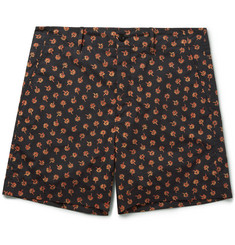 Gucci Clove Floral-Print Cotton Shorts