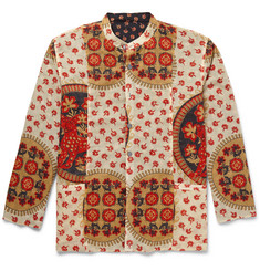 Gucci - Reversible Grandad-Collar Printed Cotton Shirt