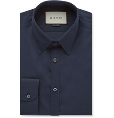 Gucci - Navy Cotton-Poplin Shirt