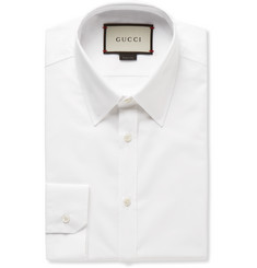 Gucci White Cotton-Poplin Shirt