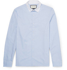 Gucci - Penny-Collar Cotton Oxford Shirt