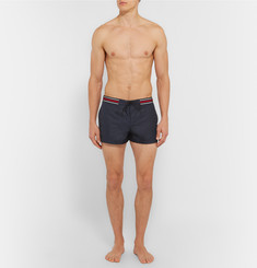Gucci - Webbing-Trimmed Short-Length Swim Shorts
