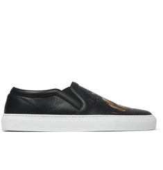 Givenchy Rottweiler-Print Leather Slip-On Sneakers