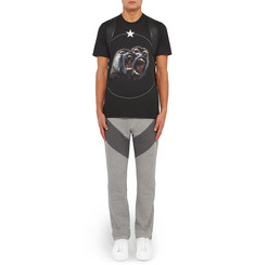 Givenchy Slim-Fit Panelled Loopback Cotton-Jersey Sweatpants