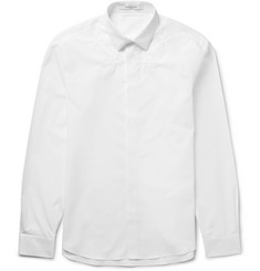 Givenchy Slim-Fit Star-Embroidered Cotton-Poplin Shirt
