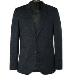Paul Smith Midnight-Blue Slim-Fit Slub Wool and Cotton-Blend Suit Jacket