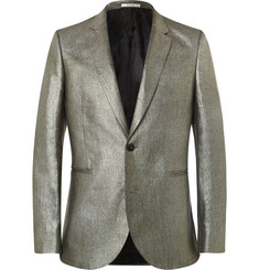 Paul Smith - Silver Slim-Fit Linen Blazer