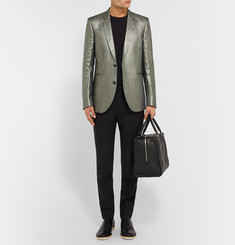 Paul Smith Silver Slim-Fit Linen Blazer