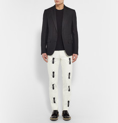 Paul Smith Slim-Fit Ant-Print Cotton-Blend Trousers