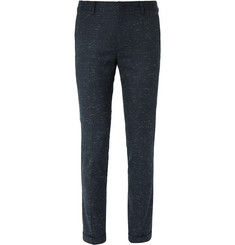 Paul Smith Navy Slim-Fit Slub Stretch-Wool and Cotton-Blend Suit Trousers