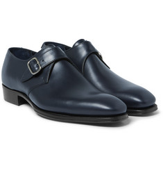 Kingsman - + George Cleverley Leather Monk-Strap Shoes