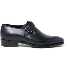 Kingsman + George Cleverley Leather Monk-Strap Shoes