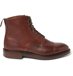 Kingsman + George Cleverley Scotch-Grain Leather Boots