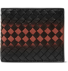 Bottega Veneta Shadow Intrecciato Leather Billfold Wallet