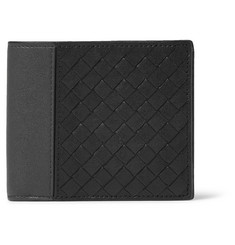 Bottega Veneta Intrecciato Washed-Leather Billfold Wallet