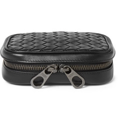 Bottega Veneta Intrecciato Leather Cufflink Case