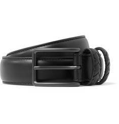 Bottega Veneta 3cm Black Leather Belt