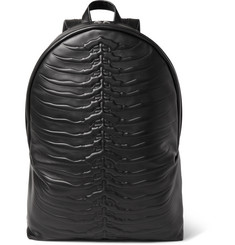 Alexander McQueen Ribcage Embossed Leather Backpack